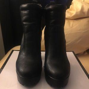 Nine West black booties